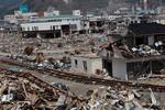 5月4日羽黒山の被災の様子